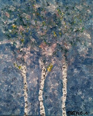 Birch Trees Rock 1